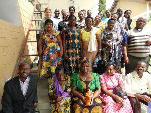 Diakonarbetare från tre av stiftets sju distrikt.