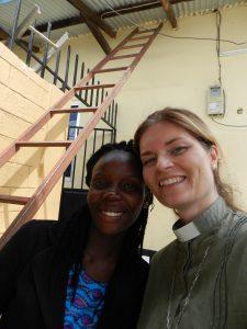 Diakon, Elida Elisha och jag tänker klättra högt med våra mötesdeltagare denna dag!